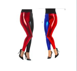 14378586647dd Image is loading Fancy-Dress-Harlequin-Cosplay-Blue-Red-or-Black-