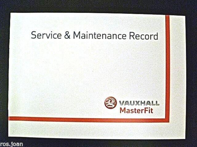Vauxhall VX220  Service Book History Record Portfolio 2000 To 2006  NEW BLANK