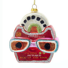 """NB1123 Noble Gems 4"""" Picture Viewer View Finder Game Glass Christmas Ornament"""