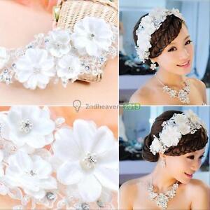 Pearl-Flower-Crystal-Rhinestone-Party-Wedding-Bridal-Headband-Hair-Band-Tiara