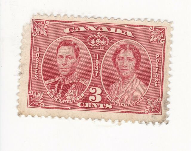 1937 CANADA 3 CENT KING GEORGE VI AND QUEEN ELIZABETH STAMP