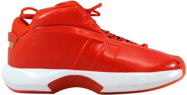 new product e0754 ebc52 Adidas Crazy 1 OrangeWhite C75735 Mens SZ 8
