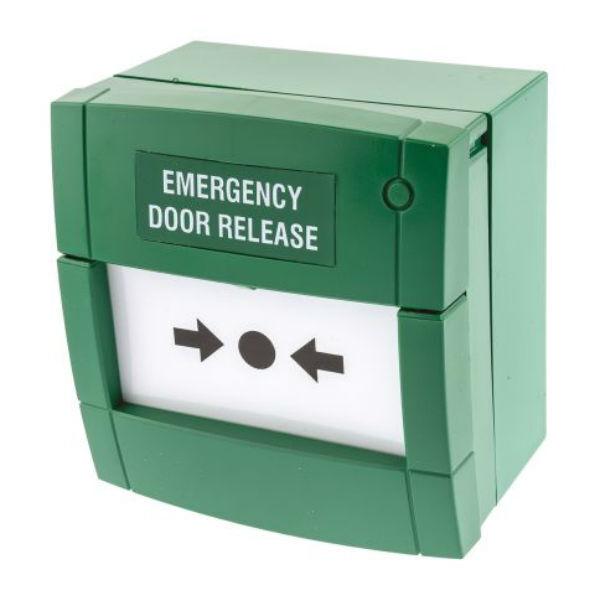 Mcp3a Emergency Door Release Break Glass Unit Green Ebay