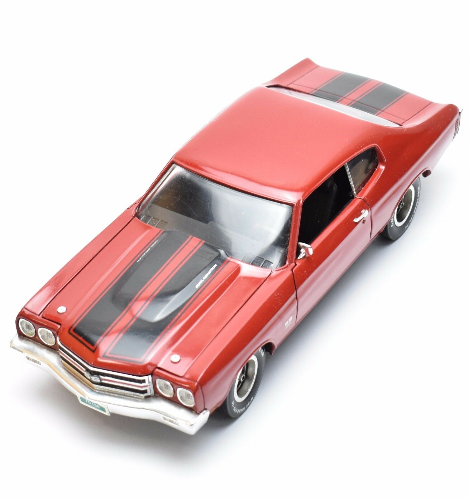 ERTL 7486 Chevelle SS 454 ls6 SPORT COUPE 1970 in rosso laccato, OVP, 1 18, k014