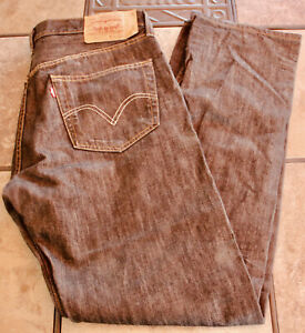 Mens Levis 501 Original Fit Black Button Fly Jeans --21 YEARS SELLING ON EBAY--