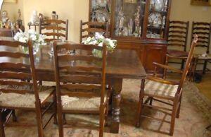 Oak Refectory Table Ladderback Chair