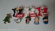 Lot de 7 pin's et d'une broche - Tintin - Tintin Coca Cola tour de France Hergé