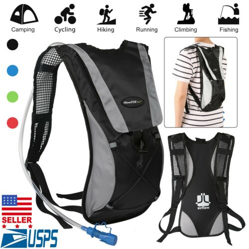 US Hydration Pack 2L Water Bladder Bag Outdoor Sport Backpack Hiking Camping