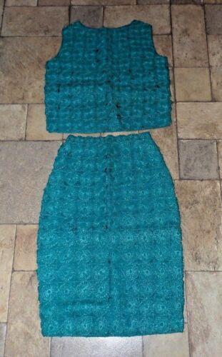 Women's Vintage 1950's / 60's Crochet Raffia 2 Pie