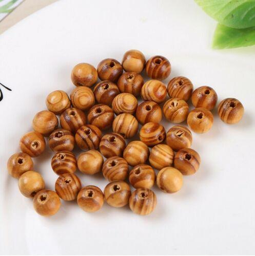 20mm Round Burly Dark Brown Natural Wooden Beads 6mm BUY 3 GET 3 FREE