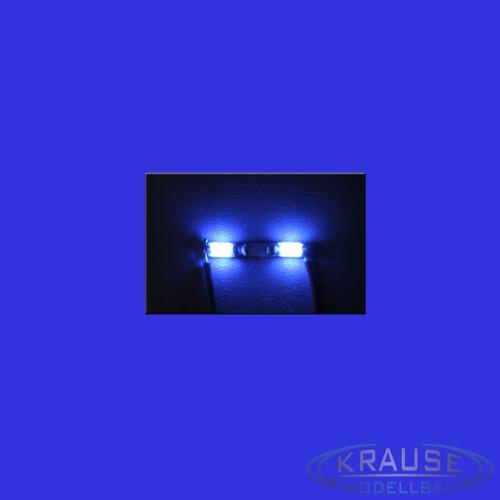 Miniatura barra luminosa 2 LED SMD tipo 1206 blu modello ferroviario Guillaume MODELLISMO