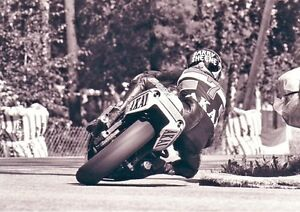 Barry Sheene Awesome BW Rear Poster