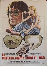La indecente Mary y Larry el loco  -- Cartel de Cine Original --