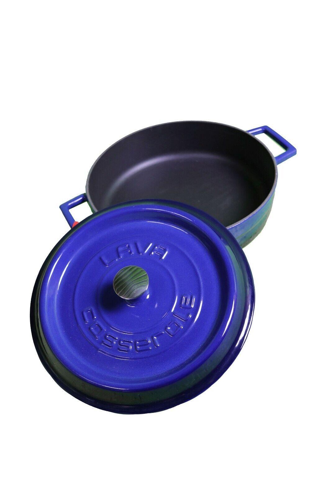 Lava Kasserolle Gusseisen blau 2,5 L 24 cm Durchmesser 767841