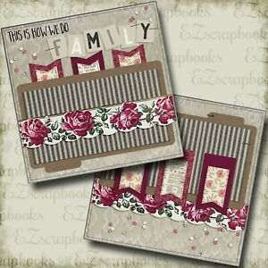 EZ Layout 2716 2 Premade Scrapbook Pages FAMILY TIME NPM