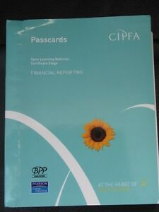 CIPFA Open Learning Material Financial Reporting Passcards 2006 - Redditch, Worcestershire, United Kingdom - CIPFA Open Learning Material Financial Reporting Passcards 2006 - Redditch, Worcestershire, United Kingdom