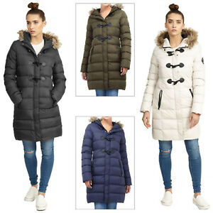 0f9ebf9cd3f73 Brave Soul Womens Wizard Long Length Padded Coat Ladies Faux Fur ...