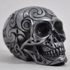 Celta cráneo Gun Metal Pequeña Escultura Ornamento-diseño de clínica NUEVO H3.5cm 16031