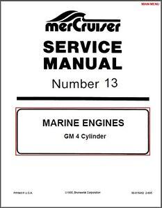 1990 1997 mercruiser 13 gm 4 cyl marine engines service manual rh ebay com Mercruiser 3.0 Parts Diagram Mercruiser 3.0 Parts Diagram