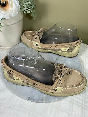 Sperry Top Sider Sand Tan One Eye Lace Up Comfortable Boat Shoes Woman S Us 8 M Ebay