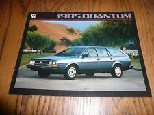 1985 Vw Volkswagen Quantum Sales Brochure