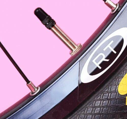 2x Alu eloxiert schwarze Fahrrad Ventilkappen SV DV Ventil NEU Rennrad MTB
