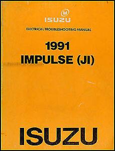 [DIAGRAM_5LK]  1991 Isuzu Impulse Original Electrical Troubleshooting Manual 91 Wiring  Diagram | eBay | 1991 Isuzu Impulse Wiring Diagram |  | eBay