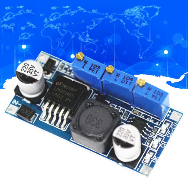 LED Driver Adjustable Constant Current DC-DC Power Step-down Module LM2596 O