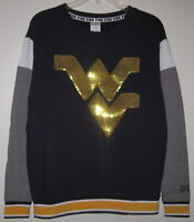 Victoria's Secret Pink Wvu West Virginia Mountaineers Bling Crew Sweatshirt
