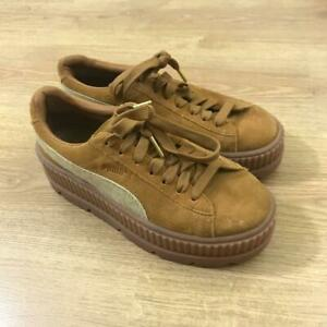 the best attitude f0f98 2ec91 Details about Puma Rihanna Fenty Brown Tan Suede Trainers Sneakers Creepers  Size 5.5