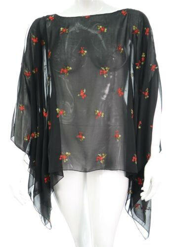 New Black Red Gothic Poncho Kaftan Top Plus Size Ladies One Size Womens New