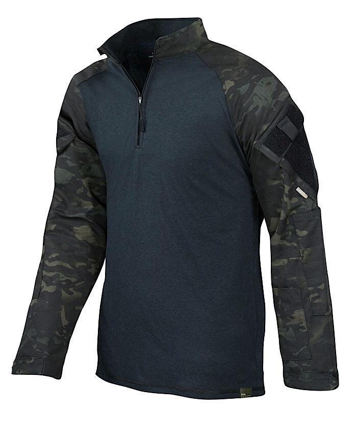 TRU-SPEC 2539 Multicam negro Camo 1 4 Cremallera Camisa De Combate Militar-Envío Gratuito