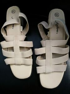 Fanfares-heels-fabric-strap-Size-6-1-2-new-no-box-AvE