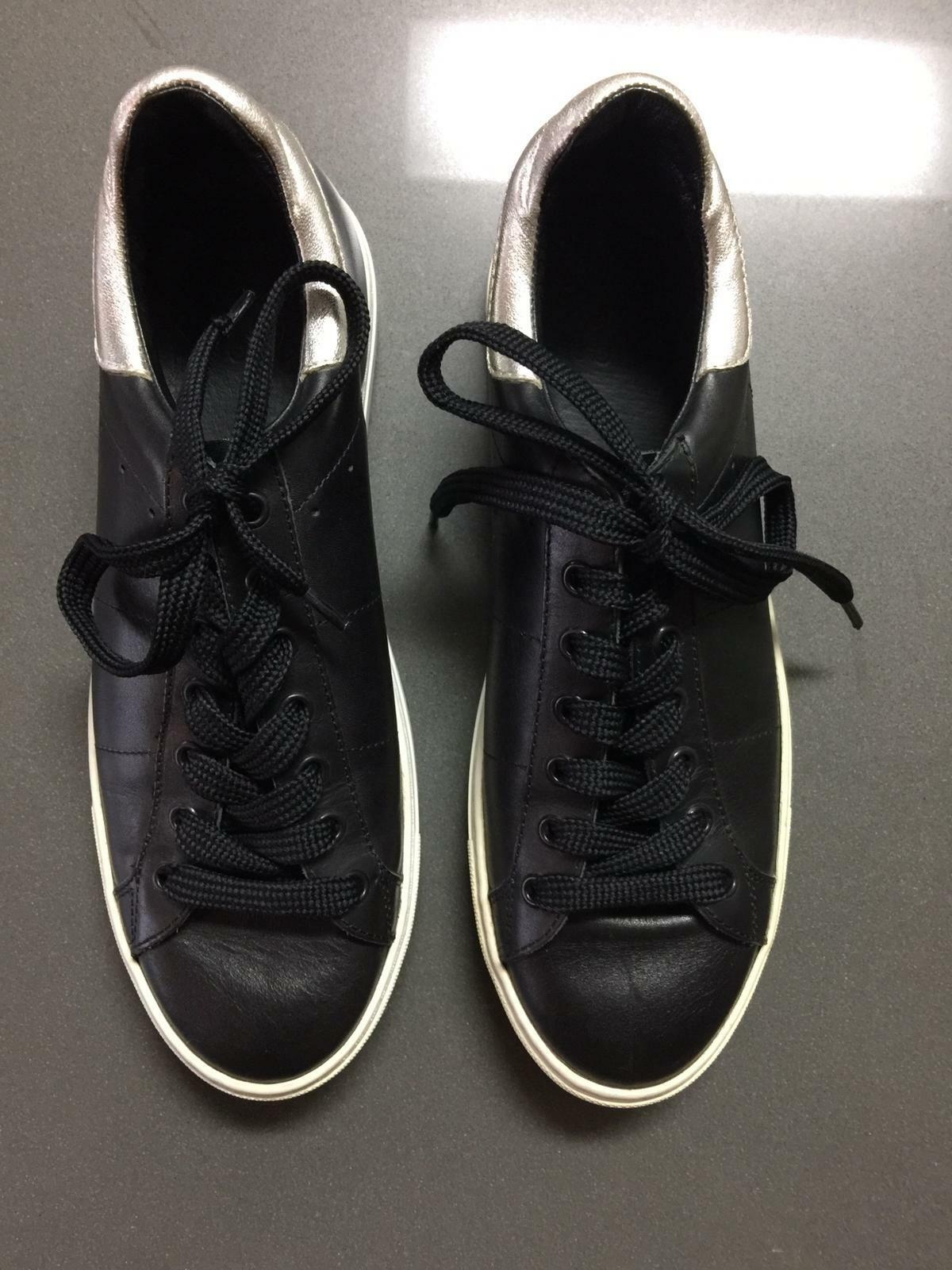 IRO brand new Black Leather sneakers trainers Unisex Size Eur 40 classic shoe