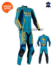 Motorcycle rizla suzuki style leather suit motogp racing leather suit one piece