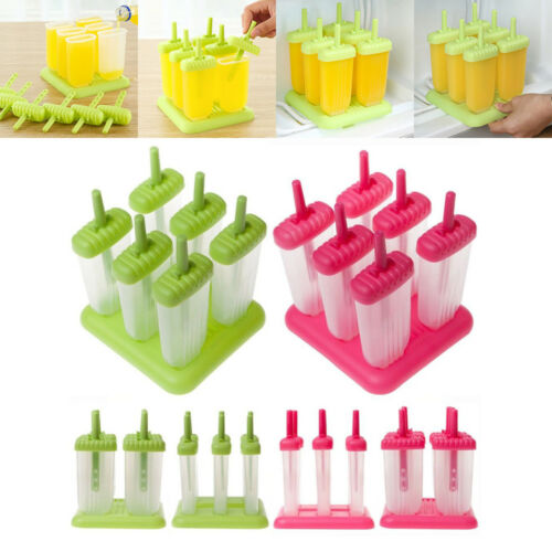 6 Cell Frozen Popsicle Maker Lolly Mould Ice Cream DIY Yogurt Icebox Kitchen