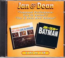 Jan & Dean 'COMMAND PERFORMANCE - LIVE/MEET BATMAN' CD New/Sealed - US OneWay