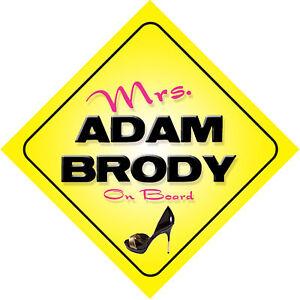 Mrs-Adam-Brody-On-Board-Novelty-Car-Sign