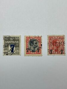 Denmark Scott 181-3 surcharged - 75% Off Sale With Free US Shipping
