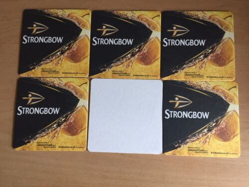 6 STRONGBOW  CIDER CARDBOARD BEERMATS FROM 2016