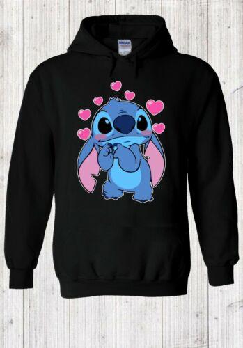 Disney Britto Stitch Love Novelty 2020 Hoodie Pullover Men Women Unisex V402