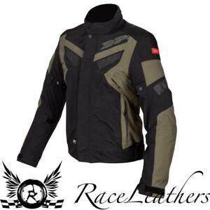 SPIDI-FREERIDER-CE-BLACK-GREEN-LAMINATE-WATERPROOF-MOTORCYCLE-MOTORBIKE-JACKET