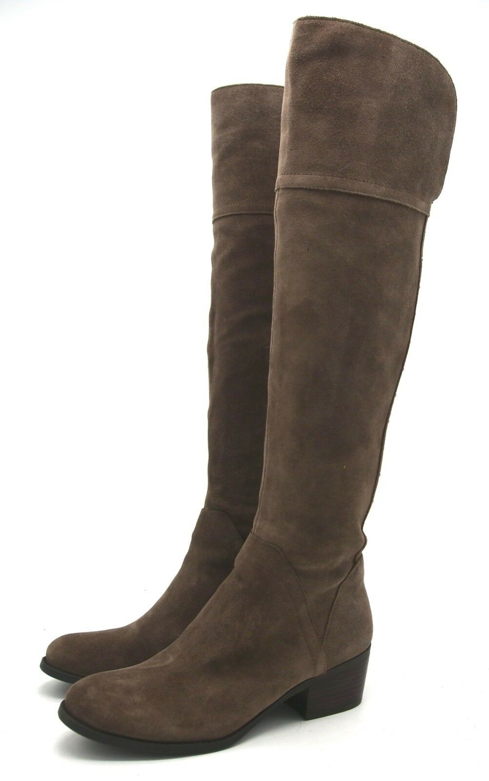 J6430 Womens Vince Camuto Briella Midnight Taupe Suede Leather Boot 9 M
