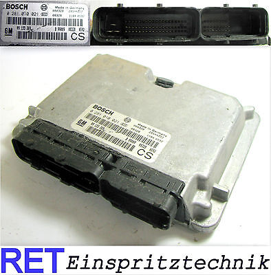 Opel Zafira 2.0 diesel Motorsteuergerät 0281010021 Bj 1999