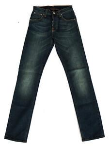 Nudie-Herren-Regular-Straight-Fit-Jeans-Hose-Average-Joe-Deep-Blue