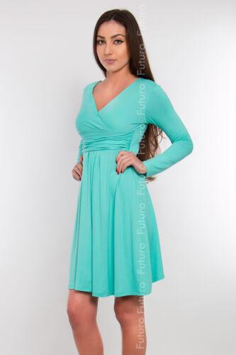 femmes robe de maternité tunique manches longues col en v extensible ft1101 * hot deal