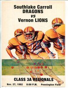 1992 Texas High School Football Program Southlake Carroll V Vernon 11 27 49579 Ebay