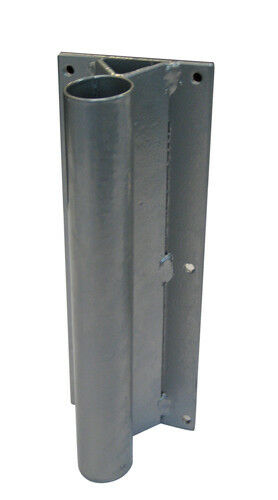 Swooper Feather Flutter STRAIGHT WALL FENCE Flag Pole BASE Flat Back