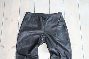 Women-039-s-Vintage-HUGO-BUSCATI-Straight-Black-100-Leather-Trousers-8-W28-L30