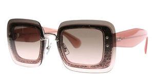 Miu-Miu-MU01R-Glittered-Square-Pink-Sunglasses-With-Overlay-Lenses